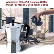 หม้อต้มกาแฟสด เครื่องชงกาแฟเอสเพรสโซ่ มอคค่า กาต้มกาแฟสด เครื่องชงกาแฟสด เครื่องทำกาแฟ แบบปิคนิคพกพา ใช้ทำกาแฟสดทานได้ทุกที หม้อชงกาแฟ Helium