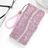 Bling Glitter Sequin Phone Case Samsung Galaxy A51 Luxury Case Leather Wallet Cover Samsung A51 Case A 51 A515 Flip Etui