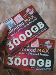 Kartu Perdana Telkomsel Nomor Sakti Unlimited Max Youtube Hingga 3000 GB Gratis Nelpon dan Sms
