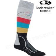 Icebreaker 長筒中毛圈配色滑雪襪/羊毛襪/排汗襪/美麗諾羊毛 女款104439 101 灰/紅/藍/黃