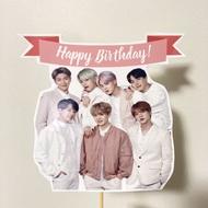 ✧  BTS happy birthday cake topper