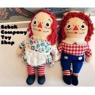 🇺🇸1970s raggedy Ann & Andy 美國 安娜貝爾 古董娃娃 古董玩具 絕版 7吋/18cm