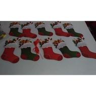 金蔥紙聖誕襪吊飾