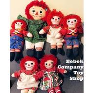 古董玩具 18吋 1988年 Xmas raggedy Ann & Andy doll 絕版玩具 布偶 安娜貝爾 娃娃