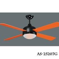 工業風系列/繽紛樂 52吋 LED 18W 吊扇燈 風扇燈 橘/白/黃/綠// 永光照明AS-25207~10G