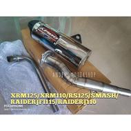 Apido Xrm125Fi/Carb Xrm110/Smash/RaiderjPro/Fi115/Rs125 Apido Chicken Power Pipe Legit Thailand Made