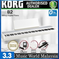 Korg B2 88 Key Digital Piano Weighted Hammer Action with Korg Sustain Pedal White (B-2 B 2)