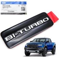 สติ๊กเกอร์ ติดแก้ม แท้  BI-TURBO  1 ชิ้น สีดำ สำหรับ Ford Ranger, Raptor, Everest ปี 2018-2020