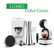 กาแฟแคปซูลReusable CremaสำหรับDolce GustoกาแฟสแตนเลสRefill PodสำหรับLUMIOเครื่องชงกาแฟTamper
