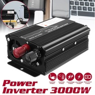 【Original Power Inverter】3000W original power inverter DC12V/24V to AC 110V/220V car inverter sine wave voltage converter solar inverter household appliances outdoor travel multifunctional Transformer