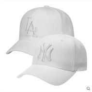 韓國正品MLB洋基道奇隊棒球帽,遮陽帽,全封帽純白色NY男女帽