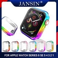 เคสป้องกัน For Apple Watch Series 5 4 3 2 1 44mm 40mm 42mm 38mm เคสกันรอยหน้าจอ TPU แบบไล่ระดับสี
