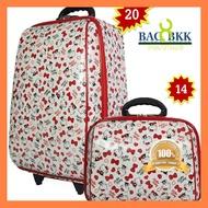 ด่วน ของมีจำนวนจำกัด BAG BKK Luggage Wheal กระเป๋าเดินทางล้อลาก Hello Kitty ระบบรหัสล๊อค เซ็ทคู่ ขนาด 20 นิ้ว/14 นิ้ว F7719-20 ของดีมีคุณภาพ