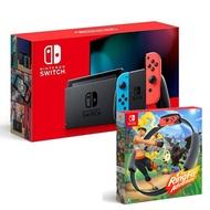 【預購】Nintendo Switch 主機 電光紅藍 (電池加強版)+健身環大冒險 同捆組