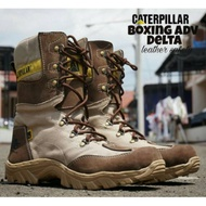 Caterpillar safety shoes delta boxing boots brown