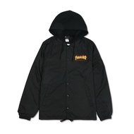THRASHER FLAME COACH JACKET 連帽教練外套-BLACK【HopesTaiwan】