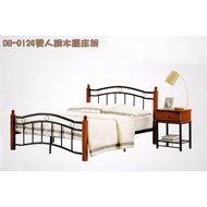 6尺 雙人床架  實木床架 鐵床  5隻撐地支 (非網狀床底) 雙人床 單人床 床架(VER)