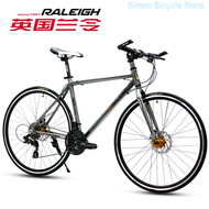 England Order (raleigh) Road Bike Unisex Adult Student Teenager Bent Flat Put the Sports Fixed Gear Live Fly Cycling Off-road Racing Run 27 Super White 700c