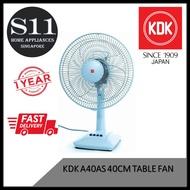 KDK Table Fan A40AS 40CM * TOP SELLER IN YEAR 2019