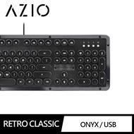 【AZIO】RETRO CLASSIC ONYX 小牛皮復古打字機鍵盤(鍵盤)