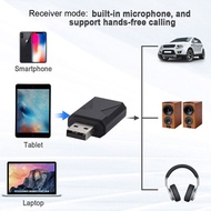 2 in 1 USB Bluetooth 5.0 Transmitter Receiver 3.5mm Jack Wireless Stereo Handsfree Audio Adapter For