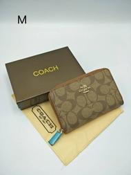 239กระเป๋าสตางค์ COACH ใบสั้น ซิปรอบ งานสวย พร้อมส่ง