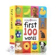 Original English Books First 100 Words Hardcover Board Book Picture Books for Children's Education