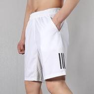 KUMO SHOES-Adidas CLUB 3 STRIPES SHORT 男款 白色 慢跑 運動 短褲 DP0302