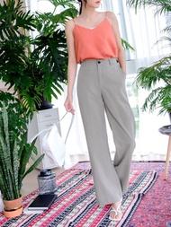 涼感美型純色直筒西裝褲