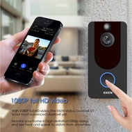 EKEN V7 HD 1080P Smart△Security wireless EKEN V7 black 1080P wifi doorbell IP security wireless smart FIR motion detecti