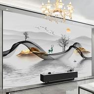 風景牆紙 電視背景牆壁紙18D立體牆紙8D現代簡約客廳臥室定製壁畫影視牆布『XY27231』