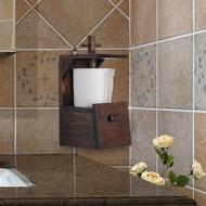 衛生紙架 泰國進口實木復古衛生間創意捲紙架紙巾架置物架廚房木質捲紙架