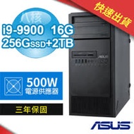 【期間限定】ASUS 華碩 WS690T 八核商用工作站(i9-9900/16G/256G M.2 SSD+2TB/Win10專業版/500W/三年保固)