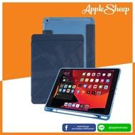 AppleSheep Origami สำหรับ iPad 10.2 Gen7 2019  / Gen 8 10.2 2020  มีที่เก็บ ApplePencil ไม่ดันฟิล์ม มีตัวล้อคปกหน้า