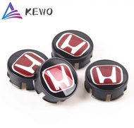 4PCS 69mm Badge Red Wheel Center Hub Cap Rim Cover Emblem Sticker For Honda CIVIC ACCORD ODYSSEY VEZEL CRV XRV SPIRIOR CRIDEN FD CRUSSTOUR