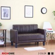 【RICHOME】工業風復古雙人沙發 CH1215 雙人沙發 小沙發 皮沙發 套房 民宿  復古 工業風