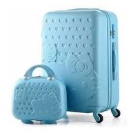 超萌可愛hello kitty萬向輪母子箱(20吋+14吋)行李箱/登機箱/行李箱 凱蒂貓