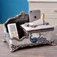 歐式多功能紙巾盒奢華創意客廳茶幾美式抽紙盒遙控器收納盒擺件 DN16683《小桃美衣》蝦皮上市《小桃美衣》新品上市