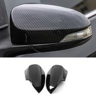 FOR TOYOTA VIOS YARIS 2019-2020 carbon fiber rearview mirror cover,VIOS YARIS 4th generation car side mirror cover trim