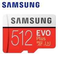 【SAMSUNG 三星】512GB EVO Plus microSDXC TF UHS-I U3 記憶卡(平輸)
