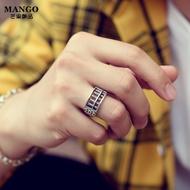 複古做舊招財如意算盤珠珠戒指 男女通用款財源滾滾個性開口戒指 轉運飾品 情侶戒指 尾戒 T1183-21