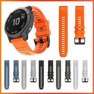 26mm Silicone Wrist band For Garmin Fenix 6X 5X Plus Fenix 3 HR Fenix 3 Sapphire Watchband Strap For Garmin Quaitx 3