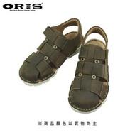【oris 帆船鞋】ORIS輕量真皮包頭魔鬼氈涼鞋-深咖啡-S0301C03(真皮/手工/涼鞋)