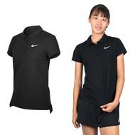 NIKE 女針織短袖POLO衫(高爾夫 慢跑 短袖上衣 立領【03312510】≡排汗專家≡