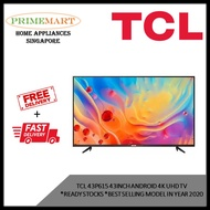 TCL 43P615  43 INCH Android 4K UHD TV * READY STOCKS * BEST SELLING MODEL IN YEAR 2020