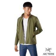 【Arcteryx 始祖鳥】男 24系列 Solano 軟殼 防風 透氣 刷毛外套(藻綠)