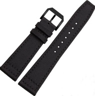 20mm 21mm 22mm Canvas Leather Watch Band Strap Fits for IWC Pilot's Watches