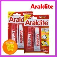 ARALDITE AB Epoxy Adhesive Glue 5 Minutes RAPID [5 Mins Quick Dry] x (2 Pack)