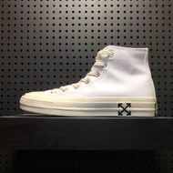 Converse_Chuck Taylor 70s x Off White HI Men Women's Sport Fashion Running Training Shoes Sneakers WHITE