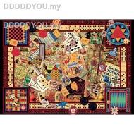 ▬♟▥✱☃◈Germany import Jigsaw Puzzles RAVENSBURGERr 1000PCS Adult puzzle Poker111